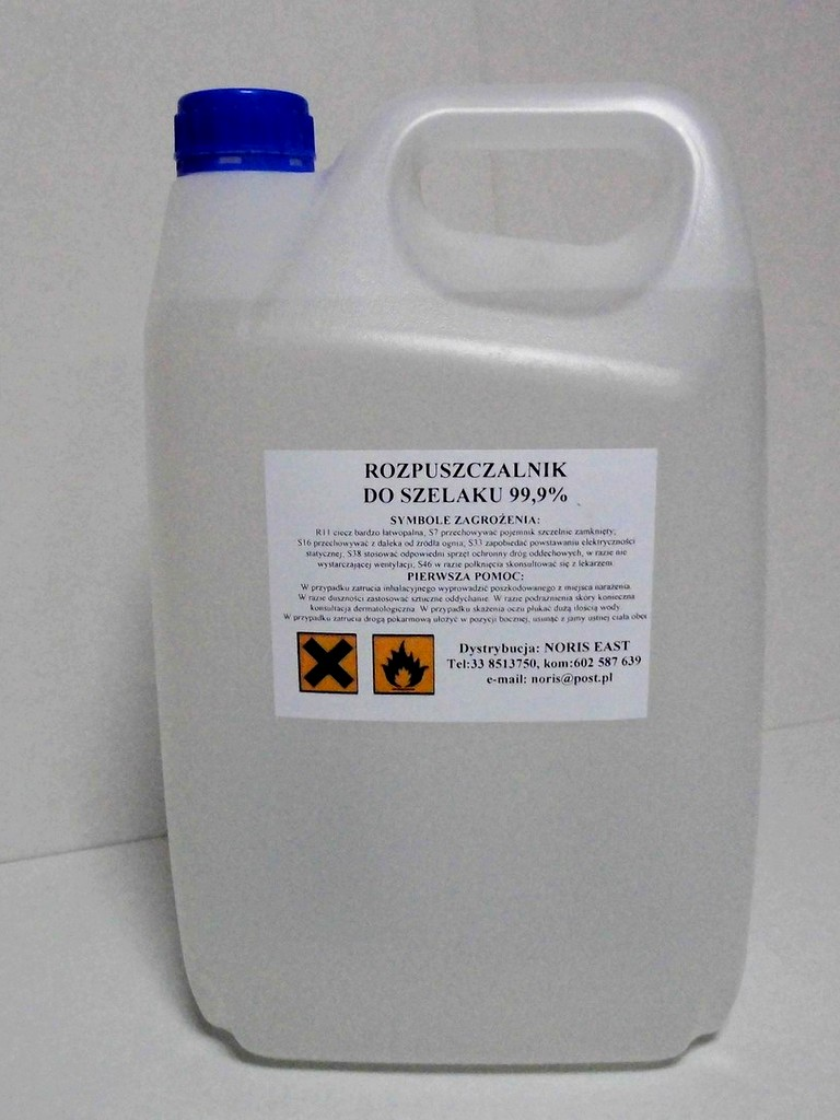 Solvent for shellac (contaminated ethanol  99.9%) 5l
